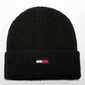 /achat-bonnets/tommy-hilfiger-jeans-bonnet-basic-rib-300-noir-149665.html