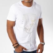 /achat-t-shirts/versace-jeans-tee-shirt-print-round-foil-blanc-149647.html