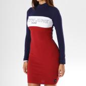 /achat-robes/sixth-june-parisiennes-robe-manches-longues-femme-avec-bandes-w3580vdr-bordeaux-blanc-bleu-marine-149706.html
