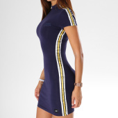 /achat-robes/sixth-june-parisiennes-robe-manches-courtes-femme-avec-bandes-satinees-w3579vdr-bleu-marine-149707.html