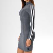 /achat-robes/sixth-june-parisiennes-robe-brillante-manches-longues-femme-avec-bandes-w3593kdr-gris-149721.html