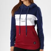 https://www.laboutiqueofficielle.com/achat-sweats-capuche/sweat-capuche-femme-w3583vsw-bordeaux-blanc-bleu-marine-149730.html
