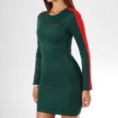 /achat-robes/sixth-june-parisiennes-robe-manches-longues-femme-avec-bandes-w3575kdr-vert-149736.html