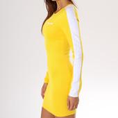 /achat-robes/sixth-june-parisiennes-robe-manches-longues-femme-avec-bandes-w3575kdr-jaune-149738.html