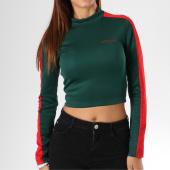 /achat-t-shirts-manches-longues/sixth-june-parisiennes-tee-shirt-manches-longues-crop-femme-avec-bandes-w3574kto-vert-149747.html
