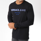 /achat-t-shirts-manches-longues/versace-jeans-tee-shirt-manches-longues-print-1-noir-149686.html