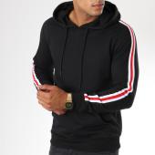 /achat-sweats-capuche/zayne-paris-sweat-capuche-avec-bandes-brodees-tx-144-noir-149688.html