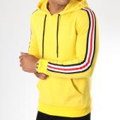 /achat-sweats-capuche/zayne-paris-sweat-capuche-avec-bandes-brodees-tx-144-jaune-149693.html