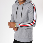 /achat-sweats-capuche/zayne-paris-sweat-capuche-avec-bandes-brodees-tx-144-gris-chine-149698.html