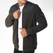 /achat-vestes/brave-soul-veste-zippee-poche-bomber-pierce-vert-kaki-noir-149900.html