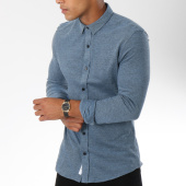 /achat-chemises-manches-longues/only-and-sons-chemise-manches-longues-cutton-bleu-150014.html