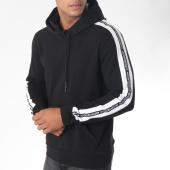 /achat-sweats-capuche/antony-morato-sweat-capuche-bandes-brodees-mmfl00424-noir-blanc-150045.html