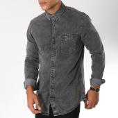 /achat-chemises-manches-longues/celio-chemise-manches-longues-en-jean-masnap-gris-150236.html