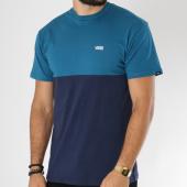 /achat-t-shirts/vans-tee-shirt-colorblock-bleu-petrole-bleu-marine-150164.html