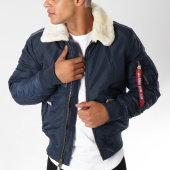/achat-bombers/alpha-industries-bomber-avec-col-mouton-injector-iii-bleu-marine-150346.html