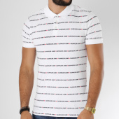 /achat-polos-manches-courtes/calvin-klein-polo-manches-courtes-all-over-institutional-9629-blanc-150318.html
