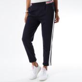 /achat-pantalons-carreaux/teddy-smith-pantalon-femme-avec-bandes-joggy-bleu-marine-blanc-150371.html