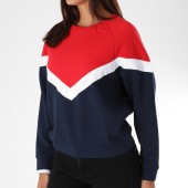 /achat-sweats-col-rond-crewneck/teddy-smith-sweat-crewneck-femme-avec-bandes-brodees-suny-rouge-bleu-marine-150376.html