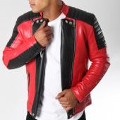 /achat-vestes-biker/terance-kole-veste-biker-79639-rouge-noir-150447.html