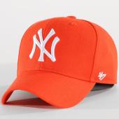 /achat-casquettes-de-baseball/47-brand-casquette-mvp-mlb-new-york-yankees-orange-150544.html