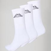 /achat-chaussettes/kappa-lot-de-3-paires-de-chaussettes-304jlf0-blanc-150463.html