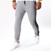 /achat-pantalons-carreaux/project-x-pantalon-carreaux-avec-bandes-88184436-noir-blanc-150721.html