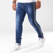 /achat-jeans/aarhon-jean-slim-troue-avec-bandes-a100-bleu-brut-150890.html