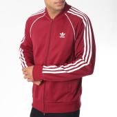 /achat-vestes/adidas-veste-zippee-avec-bandes-brodees-sst-du1347-bordeaux-blanc-150884.html