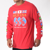 /achat-t-shirts-manches-longues/huf-tee-shirt-manches-longues-global-domination-rouge-150825.html