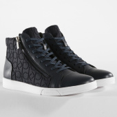 /achat-baskets-montantes/calvin-klein-baskets-berke-brush-leather-ck-embossed-neoprene-f0440-dark-navy-151063.html