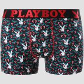 /achat-boxers/playboy-boxer-candy-cane-print-noir-rouge-vert-151086.html