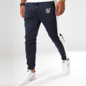 /achat-pantalons-joggings/siksilk-pantalon-jogging-avec-bande-poly-racing-bleu-marine-150991.html