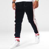 /achat-pantalons-joggings/terance-kole-pantalon-jogging-velours-avec-bandes-88016-noir-blanc-rouge-151076.html