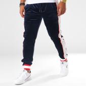 /achat-pantalons-joggings/terance-kole-pantalon-jogging-velours-avec-bandes-88016-bleu-marine-blanc-rouge-151080.html