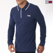 /achat-polos-manches-longues/tommy-hilfiger-jeans-polo-manches-longues-stretch-5193-bleu-marine-151046.html