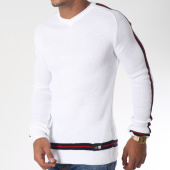 /achat-pulls/classic-series-pull-avec-bandes-5944-blanc-rouge-noir-151210.html