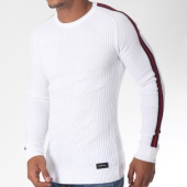 /achat-pulls/classic-series-pull-avec-bandes-5947-blanc-rouge-noir-151213.html