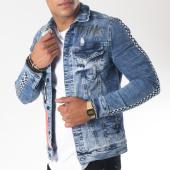 /achat-vestes-jean/classic-series-veste-jean-bandes-brodees-1999-bleu-denim-151262.html