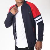 /achat-vestes/classic-series-veste-zippee-8462-bleu-marine-rouge-151275.html