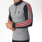 /achat-polos-manches-longues/classic-series-polo-manches-longues-bandes-brodees-8475-noir-chine-blanc-rouge-151276.html