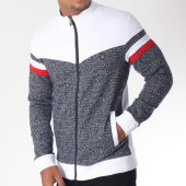 /achat-vestes/classic-series-veste-zippee-bandes-brodees-8473-blanc-bleu-marine-chine-151283.html