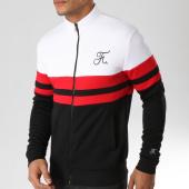 /achat-vestes/final-club-veste-zippee-tricolore-avec-broderie-080-blanc-noir-rouge-151308.html
