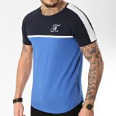 /achat-t-shirts-longs-oversize/final-club-tee-shirt-premium-fit-avec-bande-et-broderie-092-bleu-noir-blanc-151310.html