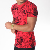 /achat-t-shirts/uniplay-tee-shirt-uy233-rouge-noir-floral-151222.html