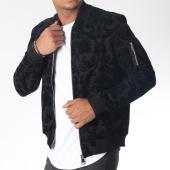 /achat-vestes/uniplay-veste-zippee-poche-bomber-uy234-noir-floral-151258.html