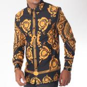 /achat-chemises-manches-longues/uniplay-chemise-manches-longues-t385-noir-jaune-renaissance-151296.html