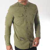/achat-chemises-manches-longues/classic-series-chemise-manches-longues-g131-vert-kaki-151434.html
