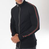 /achat-vestes/ikao-veste-zippee-bandes-brodees-f205-noir-vert-rouge-151408.html