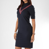 https://www.laboutiqueofficielle.com/achat-robes/robe-femme-bandes-brodees-dana-bleu-marine-151397.html
