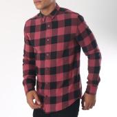 /achat-chemises-manches-longues/only-and-sons-chemise-manches-longues-gudmund-bordeaux-noir-151510.html